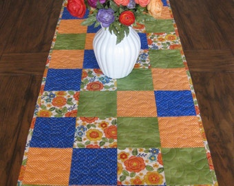 SALE Summer Garden Path Quilted Table Runner