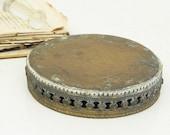 """Vintage Brass Display Base DIY Repurpose 4-3/4"""""""