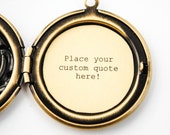 Add Your Personalized Quote - Custom Locket - locket add on