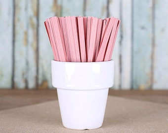 Light Pink Paper Twist Ties, Pink Twist Ties, Valentine's Day Twist Ties, Cellophane Bag Ties, Pink Party Favors, Candy Buffet Ties (100)