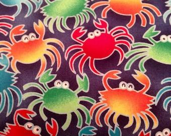 Sassy Sealife Crabs Fabric by Robert Kaufman