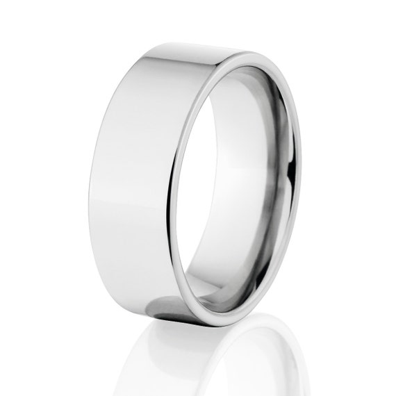 New 8 mm Cobalt Ring, Comfort Fit Band, USA Made Jewelry:COB-8F-P