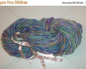 SALE - Handspun Wool Yarn - Merino Fiber - Mermaid Pool - 70 Yards