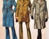 Vintage Overcoat Sewing Pattern UNCUT Simplicity 5326 Size 46 coat
