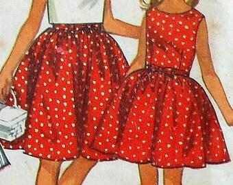 Vintage Girls Dress Sewing Pattern UNCUT Size 12 Simplicity 5993