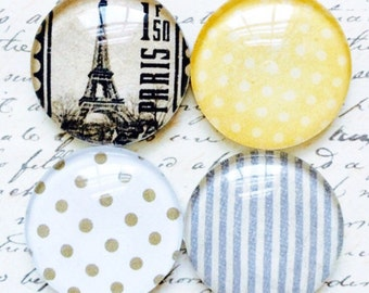 Glass Magnets - Magnets - Office Supplies - Decorative Magnets - Office Accessories - Glass Magnet - Office Decor - Fridge Magnets - French