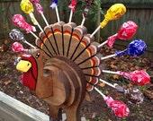 Large Wood Turkey Lollipop Holder