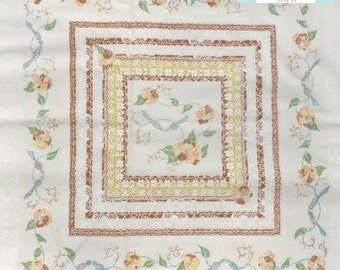 Vintage Placed Floral in Browns Pillowcase