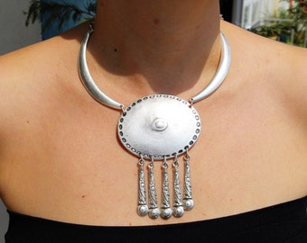 Mandala Bib Necklace - Tribal Necklace - statement necklace - Yoga Necklace - Boho Accessories - wedding - Spiritual Jewelry- gifts for her