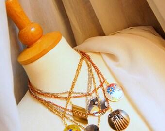 Statement Vintage Chains & Pendants Necklace