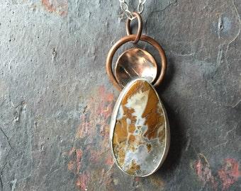 Ocean Jasper mixed metals pendant