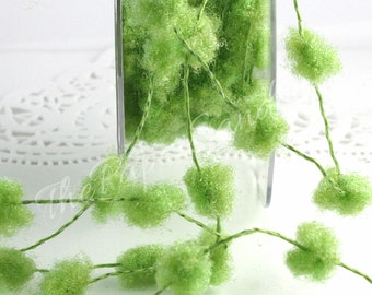 """Green Wired Pom Pom Trim, 1/2"""" wide by the yard, Crafts, Scrapbooking, Gift Wrapping, Pom Pom Trim, Wreaths, Party Supplies  Ask a question"""