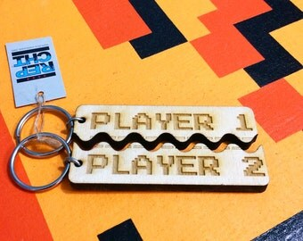 Best Friends keychain for Player 1 + Player 2