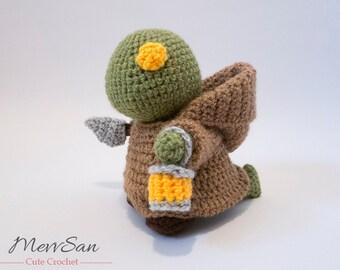Crochet PATTERN PDF - Amigurumi Final Fantasy Tonberry Doll - tonberry plush amigurumi pattern, final fantasy plush crochet tutorial