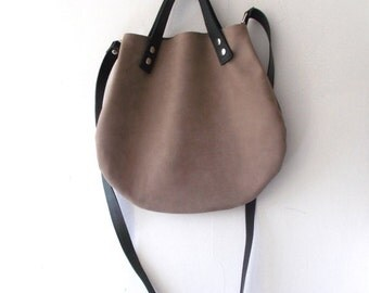 ON SALE Leather basket hand bag ,Cross-body Bag, Every day leather bag