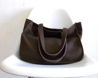ON SALE Brown leather tote,Every day bag, Woman bag