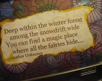 ALTERED ALTOID TIN, Treasure Box, Gift Box, Fairy, Poetry