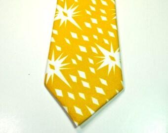Mustard Neckties Midcentury Neckties Star Neckties Custom Neckties Mustard Cotton Neckties