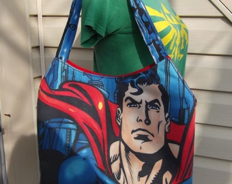 Superman  Purse / Tote  OOAK Handmade-  DC Comic  Man of Steel
