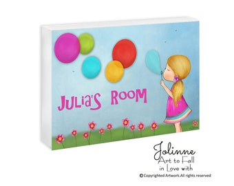 Custom Name Plaque, Girls Room Door Sign, Personalized Name Room Decor Sign,Girls Birthday Gift,Children's Room Decoration Gift,Baby Nursery