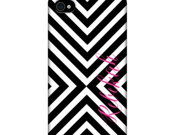 Monogrammed iPhone / Cell Phone Case - MAZE Collection - Black