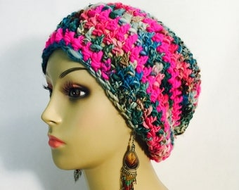 Multi Colored Slouch Hat