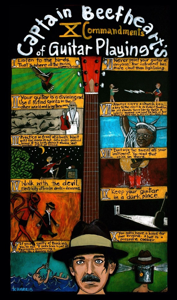 Captain Beefheart's 10 Commandments for Guitar Players