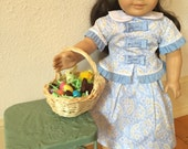Miniature Easter Basket, AG and 18 inch doll size