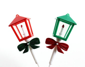 Christmas Lantern Cupcake Picks, Christmas Cupcakes (6)