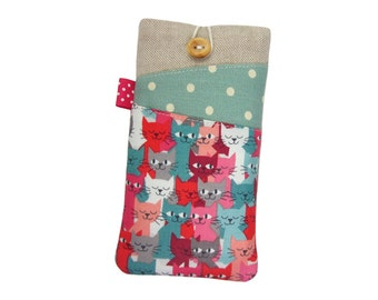 iPhone 6S Case, Fabric iPhone Case, iPod 6G,iPhone SE, iPhone 6S Plus Case, iPhone 6 Sleeve, iPhone 6 Plus Cover, Cat iPhone 6S Case