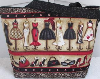 Passion For Fashion Large Tote bag Fashion Diva Purse Leopard print alternative fashion Ready To Ship