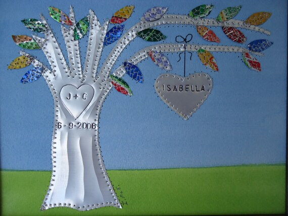 Tin Wedding Anniversary Gift: Tin Anniversary Gift Wedding Gift Hearts By Creationsbyingrid1