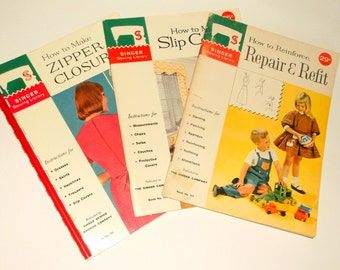 """3 Vintage SINGER Sewing """"How To"""" Booklets"""
