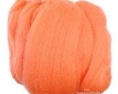 Merino Wool, Needle Felting Wool, Japanese Merino Wool Felt, Wool Roving, Yellow Red Merino Wool Felt, Orange Pink Merino Wool, fy038