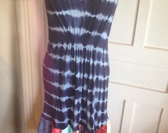 Harry and The Hippe Chic One of A Kind Bohemian Tie Dye Patchwork Summer Dress