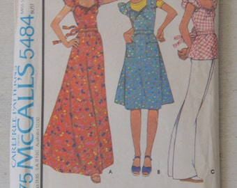 McCall's Dress or Top Pattern 5484