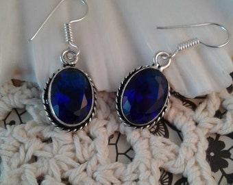 Vintage Blue Quartz  Earrings