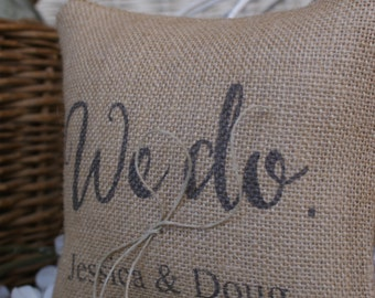 Free US Shipping...We do. Rustic Wedding Ring Bearer Pillow