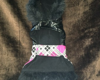 Pleather Dog Coat