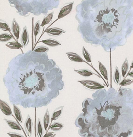 Gray painted garden rose by dena designs fat for Dena designs tea garden fabric