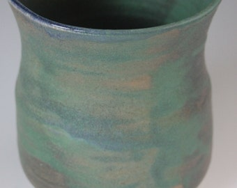 Green Wood Fired Vase