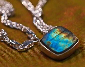 Specrolite Handmade Argentium Necklace