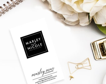 Modern Boutique-Blogger-Makeup Artist-Photographer-Event Planner-Stylist-Beauty Business Card Design
