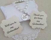 Godmother Bracelet, Godmother Gift, Will You Be My Godmother,  Pearl Bracelet