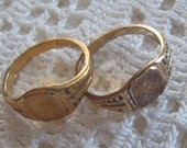 Vintage Signet Rings Baby or Child Size 3 Loree