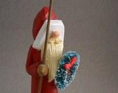 Wood hand carved Santa