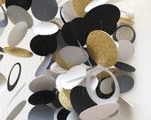 Gold, black, grey and white Baby Mobile - or choose your own colors / custom mobile / monochrome baby circle dot mobile