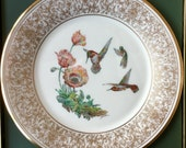 "Rufous Hummingbird 1974 Lenox Vintage Limited Edition ""Boehm"" Bird Plate"
