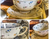 Vintage Tea Cup and Saucer for Bridal Luncheons, Showers, Hostess Gift, Bridesmaid Gift, Wedding, Alice in Wonderland