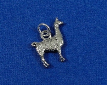 Llama Charm, Llama Pendant, Silver Plated Llama Charm for Necklace or Bracelet
